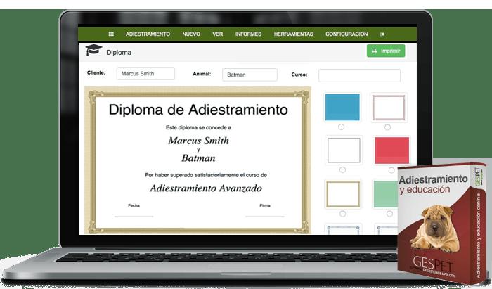 diploma adiestramiento