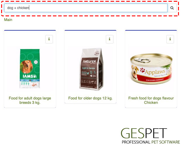 petStore software products combined search