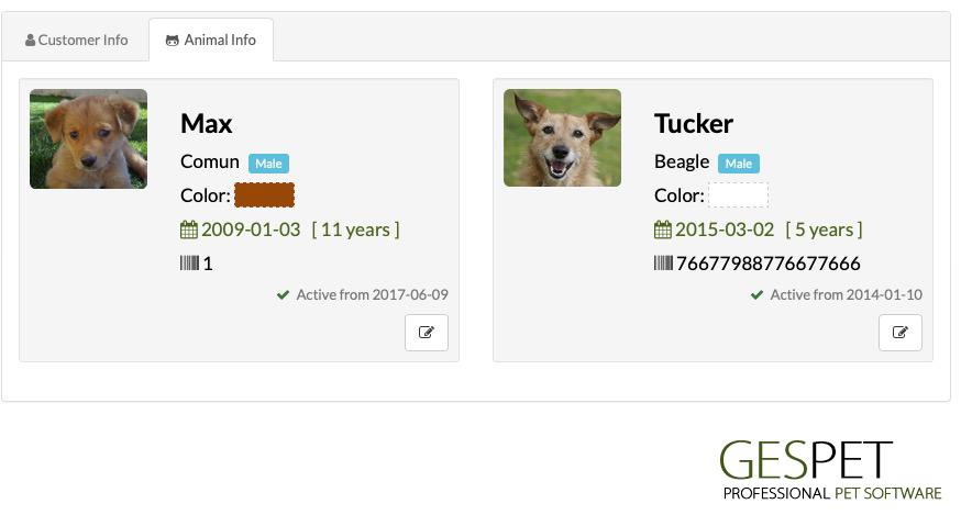 software dog customers loyalty card
